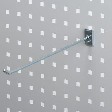 Værktøjsophæng - dobbelt varekrog i zink - til hulplade med firkanthuller<br /> mål 30 cm - trådtykkelse Ø6 cm