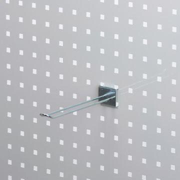 Værktøjsophæng dobbelt varekrog 20 cm i zink<br />for hulplade med firkanthuller - trådtykkelse Ø4 mm