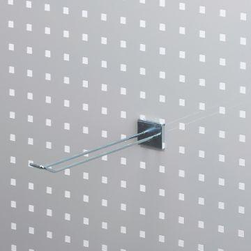 Værktøjsophæng dobbelt varekrog 25 cm i zink<br />for hulplade med firkanthuller - trådtykkelse Ø4 mm