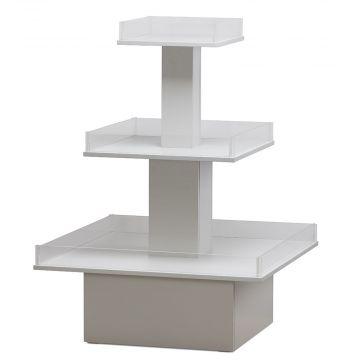 Pyramidepodie i 3 etager - Hvid |
