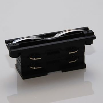 Samlestykke til 2 skinner i sort - 230 Volt