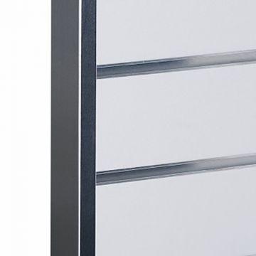 Aluminium sideliste til rillepanel<br />mål 4,0x2,0 cm og længde 240 cm