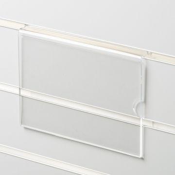 Skilteholder i klar akryl for panelplader - A5 liggende<br />passer til format 21,0 x 14,8 cm papir