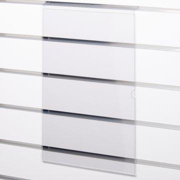 Skilteholder i klar akryl for panelplader - A3 stående<br />passer til format 42,0 x 29,6 cm papir