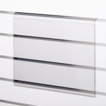 Skilteholder i klar akryl for panelplader - A3 liggende<br />passer til format 42,0 x 29,6 cm papir