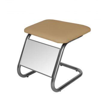 Taburet med skospejl og beige / mocca sæde