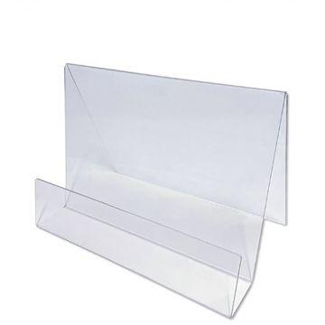 Skrå plastholder til bøger A4 vandret