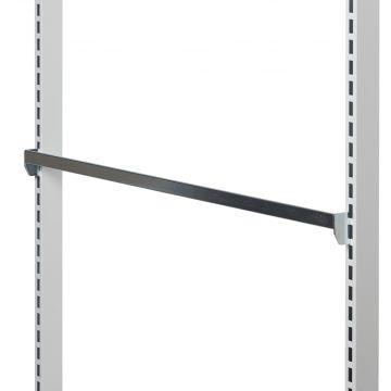 Spydskinne for varekroge - zink overflade<br />mål 90 cm - med enkeltkrogs indhægtning