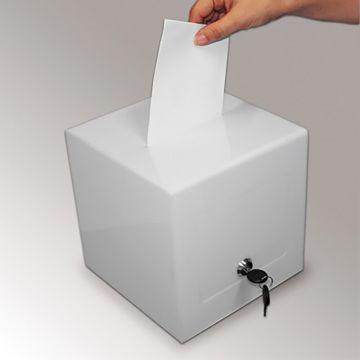 Stemmebox - forslagskasse - Hvid |