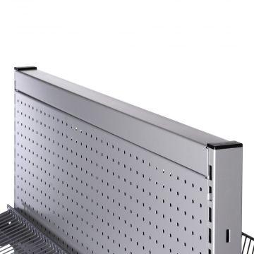 Topafslutning til T-søjle afslutning i top - 90 cm grå metallic pulverlakeretlak