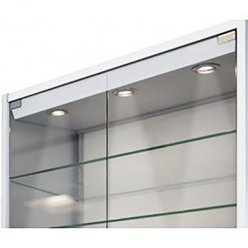 Topplade med LED lys for vitrineskab
