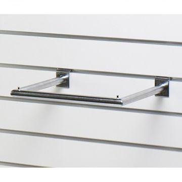 U-bøjlestang for panel - mat chrom overflade<br />mål B35xD28 cm