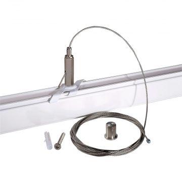 Wireophæng for strømskinne i hvid  